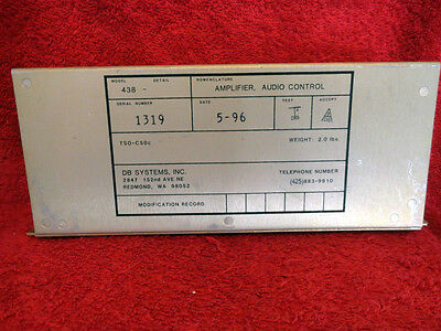 Db Systems Model 438 Audio Control Amplifier
