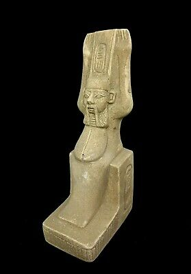 Very Rare Bes God Statue Egyptian Antique Icon Of Sex Faience Craft Sculpture