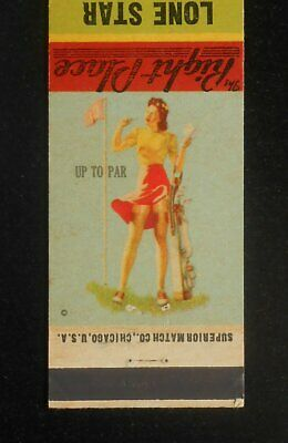 1943 Sexy PinUp BASEBALL SCHEDULE Lone Star Cafe O. A. Archie Chattanooga TN MB