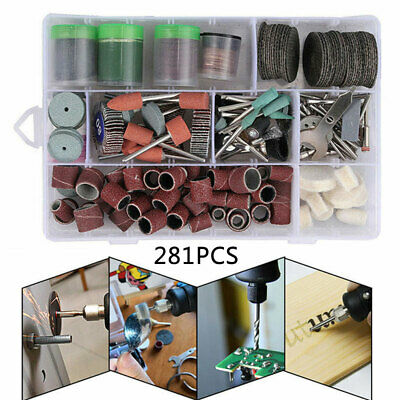 281Pcs Drill Bit Set Polishing Cutting Accessories Kit For Dremel Rotary Tool UK