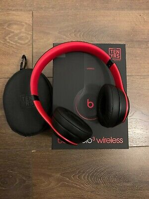 Beats By Dre Solo 3 On Ear Wireless Headphones (Decade Collection) - Black/Red