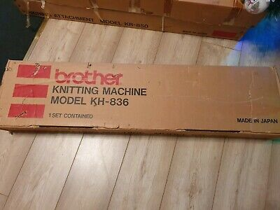Brother knitting machine kh 836 with manual and in original box
