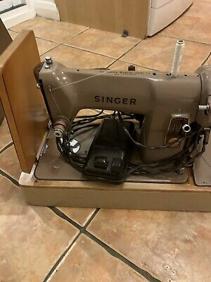 Vintage SINGER 185k Electric Sewing Machine With Original Manual