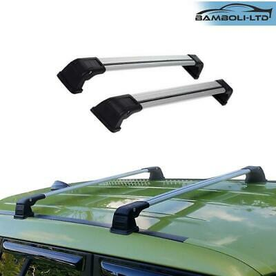 LAND ROVER DISCOVERY 3 /& 4 BLACK LOCKABLE ROOF RACK CROSS BARS X2 VPLAR0001 PAIR