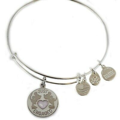 NWT Disney Parks ALEX and ANI Mickey & Minnie JUST ENGAGED Bangle Bracelet NEW
