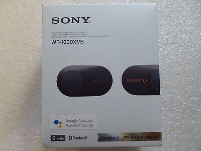 Sony WF-1000XM3 Industry Leading Noise Canceling Truly Wireless Earbuds, Black