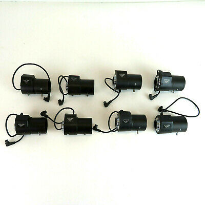 "(8) CCTV 2.8-12mm F1.4 1/3"" Powered Security Camera Lens - Lot of 8"