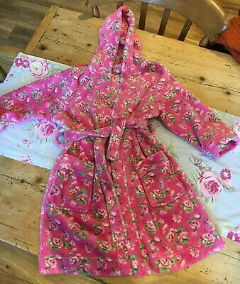 Beautiful Next floral pink girls dressing gown 5-6 years