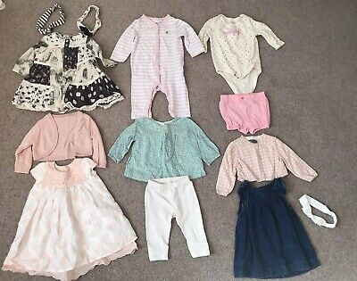 Baby Girls Bundle Of 6x Outfits Age 3-6 Months Next M&S Baby Gap Little White Co