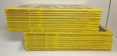 Lot of 19 - National Geographic Magazine - 2016 and 2017