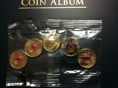 2018 Australia Remembrance Day Armistice Red Poppy $2 Coin per coin