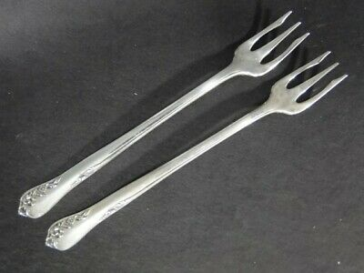 2 Oneida ENGAGEMENT Sterling Silver Cocktail Seafood FORKS x2