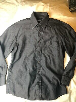 CANALI Mens Deep Eggplant Purple Button Up Long Sleeve Shirt Italy Size M Pocket