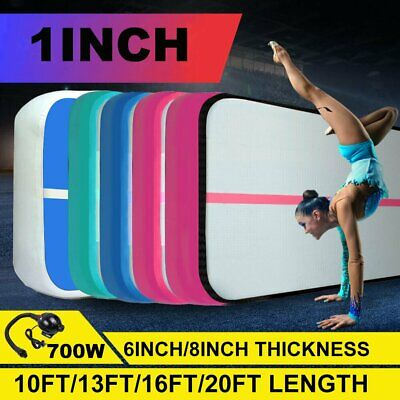 10 to 20ft Inflatable Gym Air Track Mat Airtrack Tumbling Cheerleading PUMP