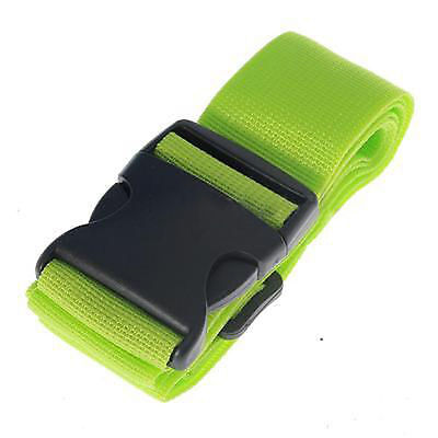 Green Travel Luggage Suitcase Baggage Bag Backpack Cross Strap Belt PlasticClasp