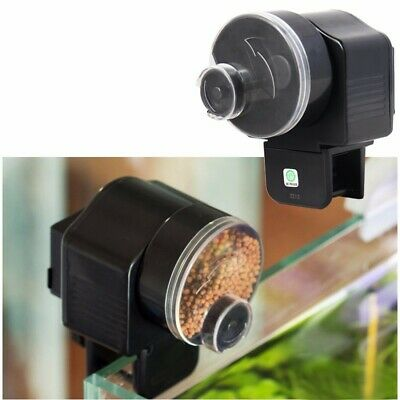 Automatic Fish Food Feeder Pet Feeding Aquarium Tank Pond Auto/Manual Dispenser
