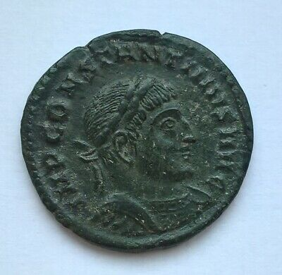 Nice Constantine I 307-337AD Follis Trier mint Ancient Roman Imperial Coin
