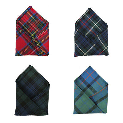 Ingles Buchan 100% Wool Tartan Pocket Handkerchief Square