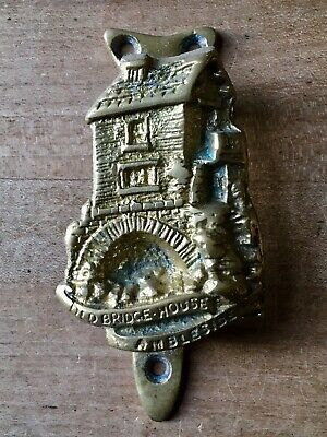 Vintage Brass Door Knocker Small Old Bridge House Ambleside Cast Brass Antique