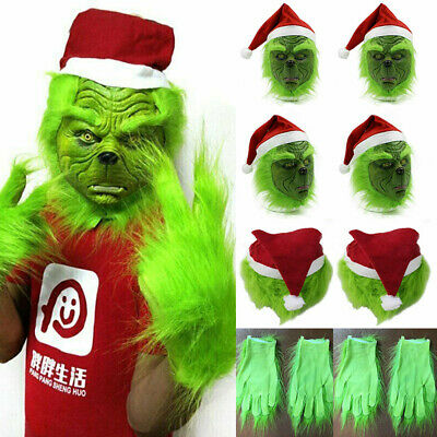 The Grinch Glove Cosplay Mask Costume Christmas Xmas Prop How the Grinch Stole