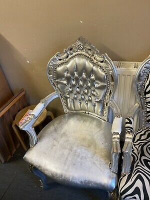 French Rococo Boudoir Chair Used