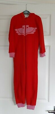 Age 5-6 Years Red Coloured Fleece All in One Hooded PJ Masks Owlette Outfit