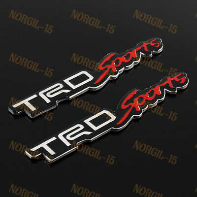 Logo TRD 3D Trunk Car Sticker Decal Emblem Badge Rear For Toyota Lexus Scion Red