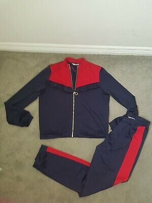Girls Matalan Candy Couture Navy Blue and red Tracksuit Aged 14 - 15Years