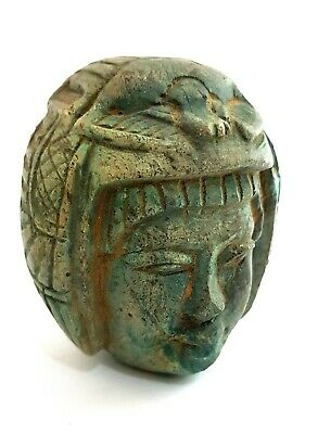 Ptahmai Statue Queen Egypt Egyptian Faience Ancient Late Period Shabti Antique