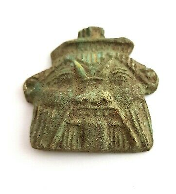 Bes God NecklaceEgyptian Antique Icon Of Sex Faience Stone Amulet Very Rare