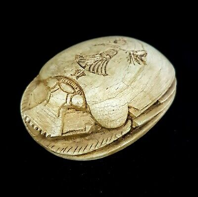 Egyptian Scarab Beetle Ancient Egypt God Khepri Late Period Jewelry Antiquities
