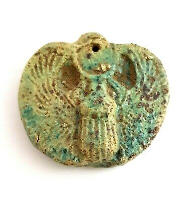 Ancient Egyptian Civilization Amulet Scarab Figurine Beetle  Antique Necklace