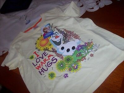New With Tags Girls Disney T-Shirt Aged 7  -  8    Years Frozen Olaf