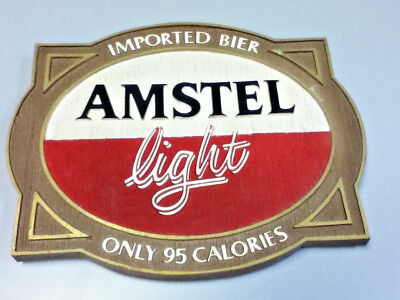 Amstel light beer sign imported holland breweries vintage old wall tacker Ml81