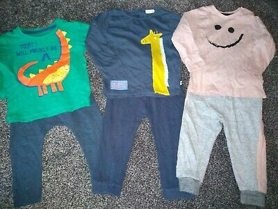 Baby boys bundle of 3 tops & 3 joggers 12-18 months