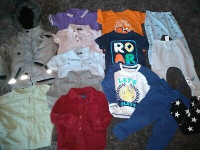Baby boys bundle of jackets, shirts, tops & joggers 12-18 months