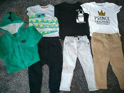Baby boys bundle of jackets, 3 tshirts, 2 jeans & joggers 12-18 months