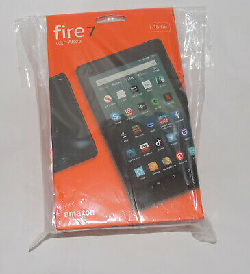 """New Amazon Kindle Fire 7"""" Tablet 16GB with Alexa (9th Gen) Black"""