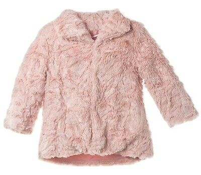 Minoti Girls Super Soft Plush Faux Fur Jacket - Age 3/4 Years