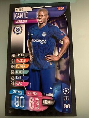Match Attax 2019/20 UEFA Champions Oversized Large Card XL9 N'Golo Kante Chelsea