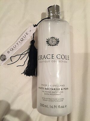 Grace Cole Boutique Collection 500ml Relaxing Bath Soak White Nectarine & Pear