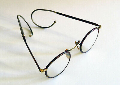 Antike Brille mit Etui, Optik, Steam Punk,