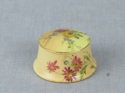 Antique Royal Worcester Blush Ivory Dressing Table Pot And Cover - Date 1912