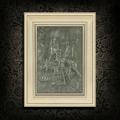 Framed Carved Beauty And Beast Relief EJ300013