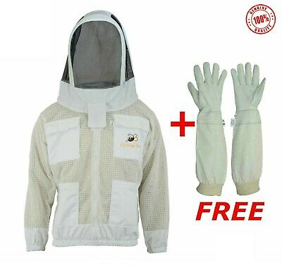 Ultra Ventilated 3 Layer Beekeeper Beekeeping jacket Fencing Veil Sting Proof