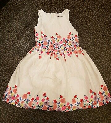Beautiful Flower Patterned Party Dress, Girl, Age 6-7 Years, M&S - Bargain!