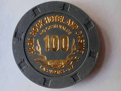 Hard Rock Hotel Casino 100 NCV Las Vegas Poker Tournament Casino Chip UNC