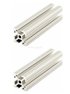 Set of 2 80/20 1010-97 Aluminum T-Slotted Framing Extrusion 10S 97 Lx1 In H