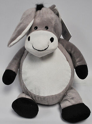 EB Embroider Duncan Donkey 16 Inch Embroidery Stuffed Animal