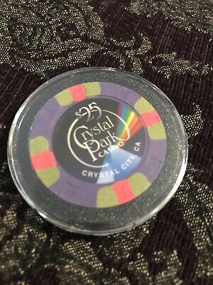 $25 Crystal Park Casino Chip Crystal City California - Poker - Blackjack $25.00